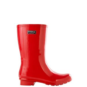 EMMA MID RED WOMEN'S RAIN BOOTS
