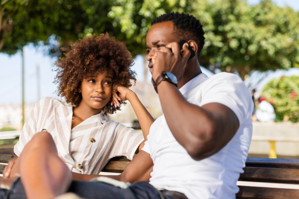 first date bored black couple 2